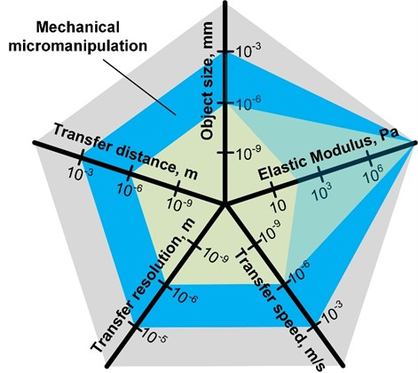 A schematic representation of the micromanipulation task in respect of various parameters
