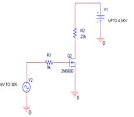 a) Forcing circuit schematic, b) electrode formation