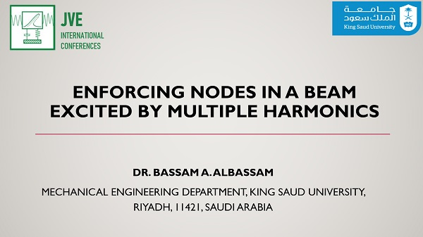 Enforcing nodes in a beam excited by multiple harmonics