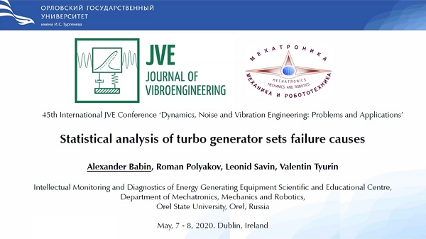 Statistical analysis of turbo generator sets failure causes