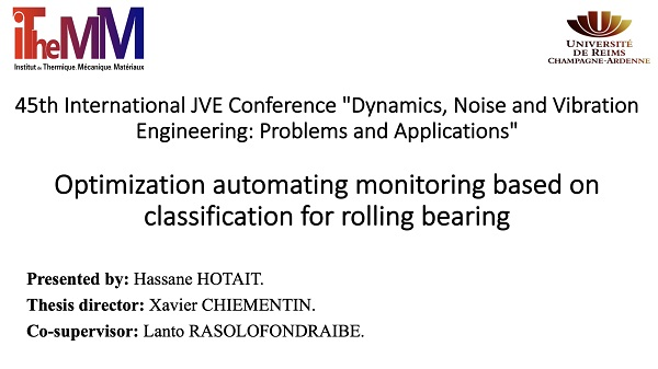 Optimization automating monitoring based on classification for rolling bearing