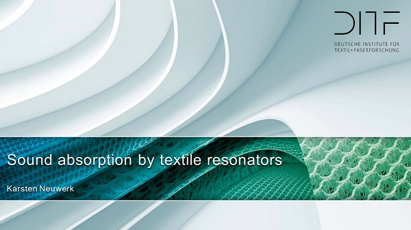 Sound absorption by textile resonators
