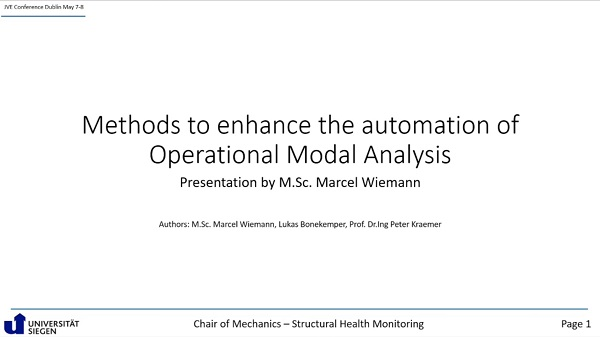 Methods to enhance the automation of operational modal analysis