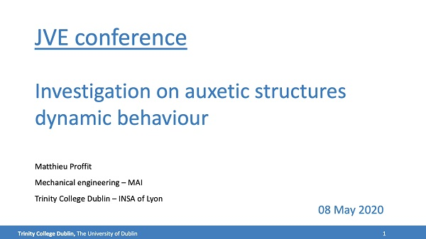 Investigation on auxetic structures dynamic behaviour
