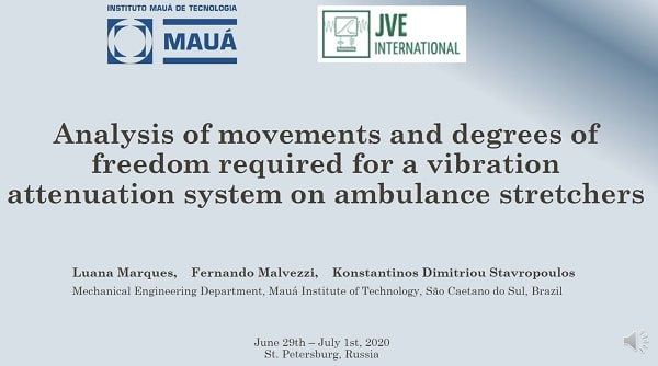 Analysis of movements and degrees of freedom required for a vibration attenuation system on ambulance stretchers