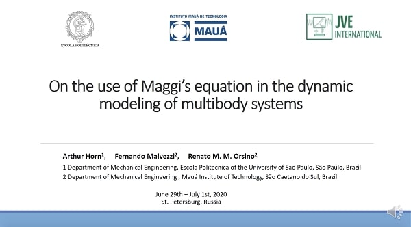 On the use of Maggi's equation in the dynamic modeling of multibody systems