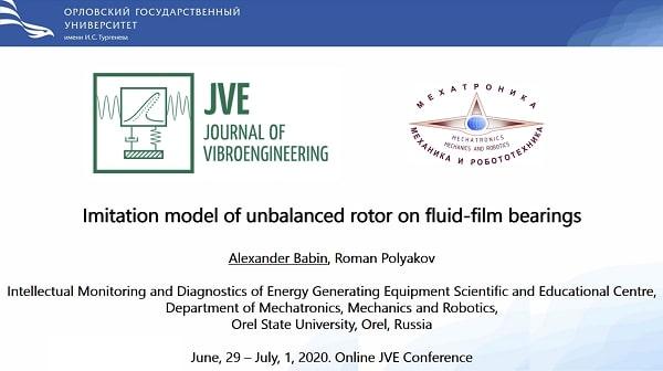 Imitation model of unbalanced rotor on fluid-film bearings