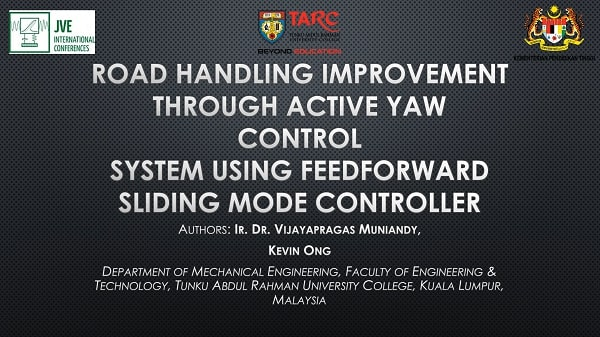 Road handling improvement through active yaw control system using feedforward sliding mode controller