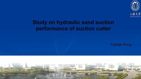 Study on hydraulic sand suction performance of suction cutter