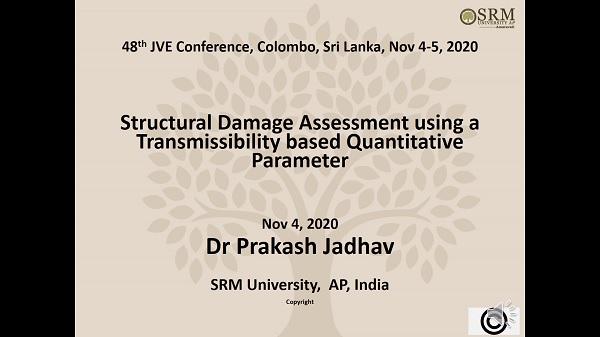 Structural damage assessment using a transmissibility based quantitative parameter